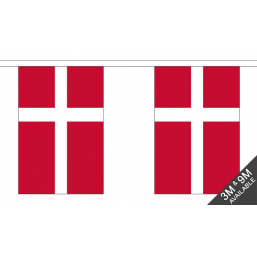 Denmark Flag - Fabric Bunting Flags - United Flags And Flagstaffs