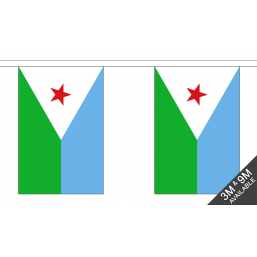 Djibouti  Flag - Fabric Bunting Flags - United Flags And Flagstaffs