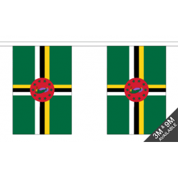 Dominica  Flag - Fabric Bunting Flags - United Flags And Flagstaffs