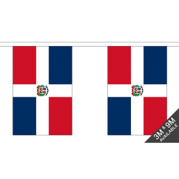 Dominican Republic  Flag - Fabric Bunting Flags - United Flags And Flagstaffs