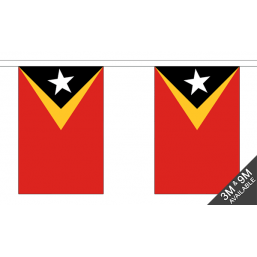 East Timor Flag - Fabric Bunting Flags - United Flags And Flagstaffs