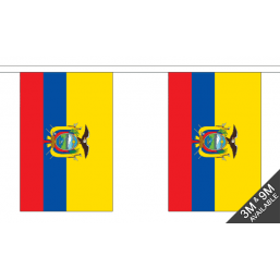 Ecuador Flag - Fabric Bunting Flags - United Flags And Flagstaffs