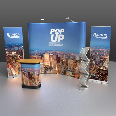 Pop Up Exhibition Stand : Pop up exhibition combo kit u united flags and flagstaffs