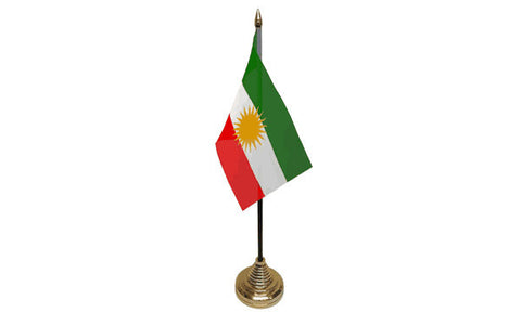 Kurdistan Table Flag Flags - United Flags And Flagstaffs