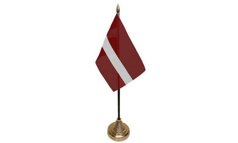 Latvia Table Flag Flags - United Flags And Flagstaffs