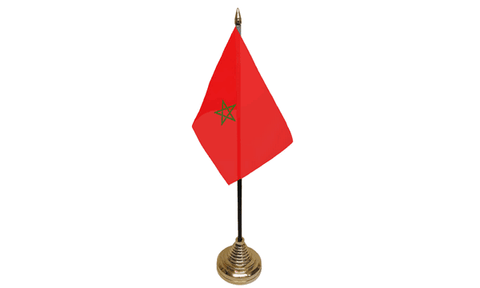 Morocco Table Flag Flags - United Flags And Flagstaffs