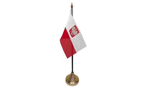 Poland (Civil) Table Flag Flags - United Flags And Flagstaffs