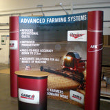 Pop Up Exhibition Displays - Curved Banners - United Flags And Flagstaffs