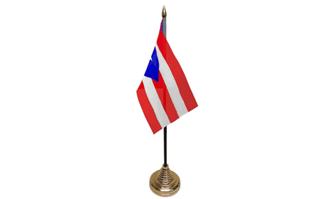 Puerto Rico Table Flag Flags - United Flags And Flagstaffs