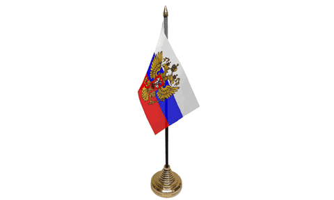 Russia (Eagle) Table Flag