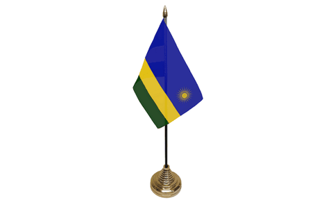 Rwanda Table Flag Flags - United Flags And Flagstaffs