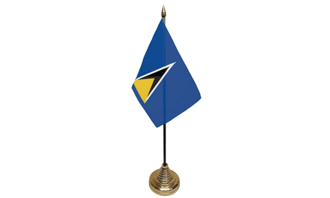 St Lucia Table Flag Flags - United Flags And Flagstaffs