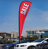 Forecourt Teardrop Flags - Includes drive on base Flags - United Flags And Flagstaffs