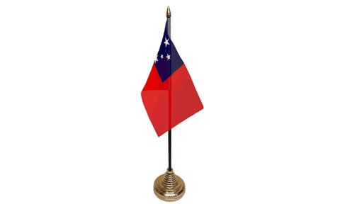 Samoa Table Flag Flags - United Flags And Flagstaffs