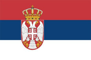Serbia (State) National Flag Sewn Flags - United Flags And Flagstaffs
