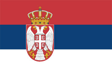 Serbia (State) National Flag Printed