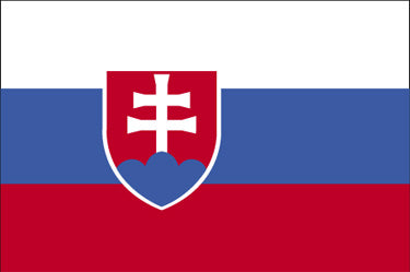 Slovakia National Flag Printed Flags - United Flags And Flagstaffs