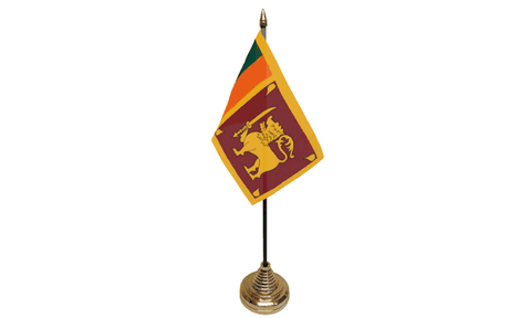 Sri Lanka Table Flag Flags - United Flags And Flagstaffs