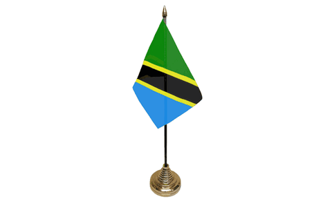 Tanzania Table Flag Flags - United Flags And Flagstaffs