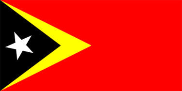East Timor National Flag Sewn Flags - United Flags And Flagstaffs