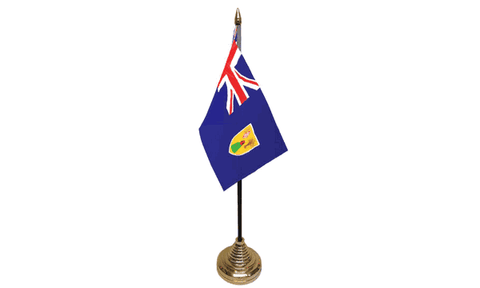 Turks and Caicos Islands Table Flag Flags - United Flags And Flagstaffs