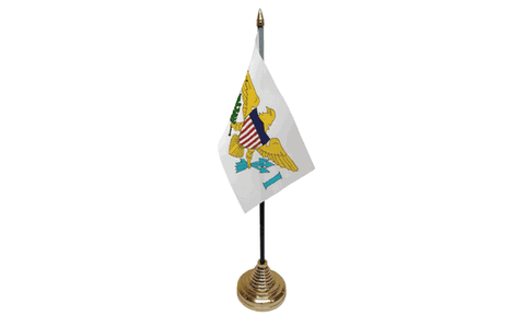 United States Virgin Islands Table Flag Flags - United Flags And Flagstaffs