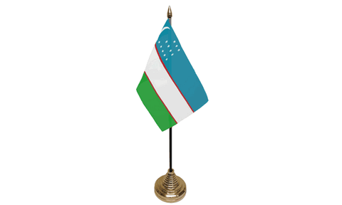 Uzbekistan Table Flag Flags - United Flags And Flagstaffs