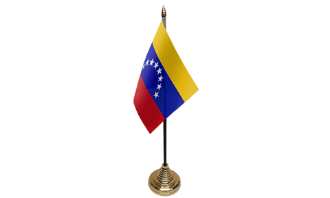Venezuela Crest Table Flag