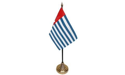 Republic of West Papua Table Flag Flags - United Flags And Flagstaffs