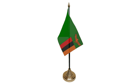 Zambia Table Flag Flags - United Flags And Flagstaffs