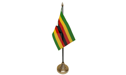 Zimbabwe Table Flag Flags - United Flags And Flagstaffs