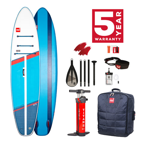 "Red Paddle Co - 11'0"" Compact Inflatable Paddle Board Package - 2021"