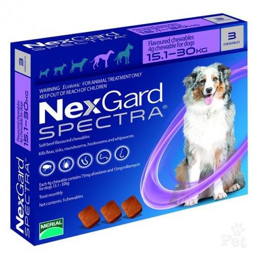 NexGard Spectra Large Dog 15.1-30kg (3's)