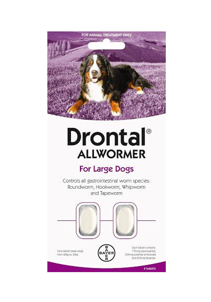 Drontal Allwormer for Large Dogs up to 35kg Tablet
