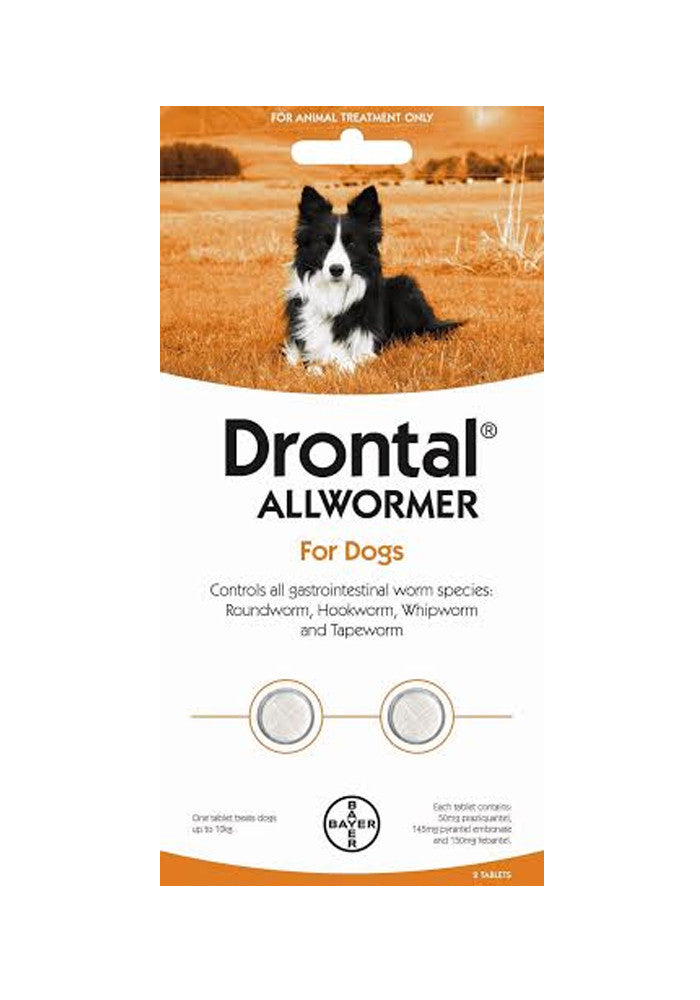 Drontal Dog Allwormer for Dogs up to 10kg Tablets