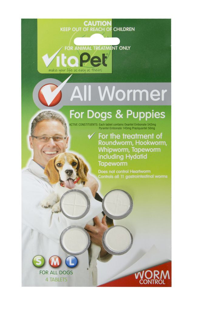 Vitapet Super All Wormer Dog 4 Tablet