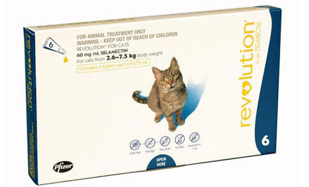 Revolution Flea & Worm Treatment for Cats 2.5-7.5kg