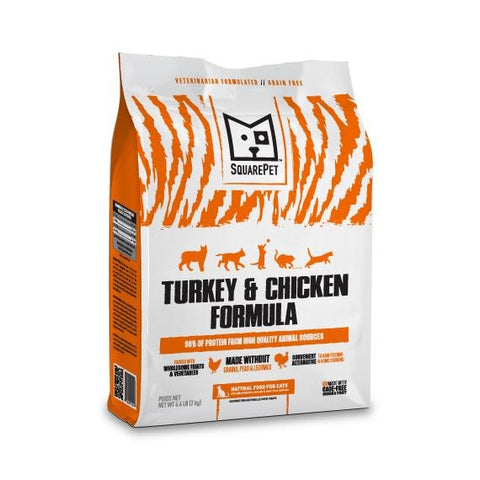 Square Pet - Turkey & Chicken Feline Formula  11#  Buy 2 & get 1/2 off the second bag