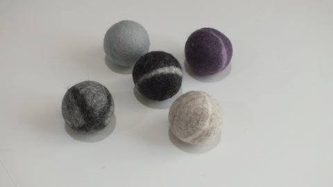 "Hand Felted Wool Ball Assorted Colors (3"")"
