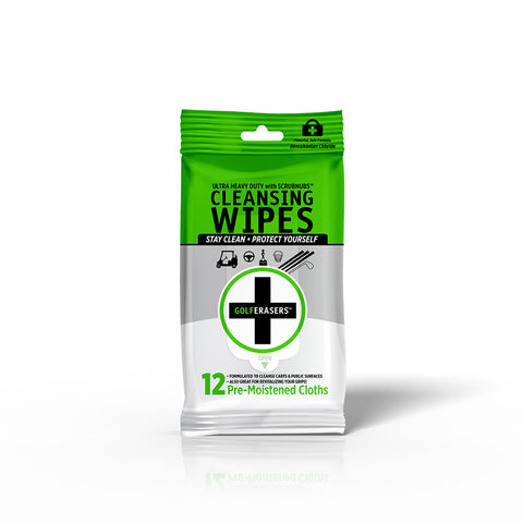 GolfERASERS Wipes<br>(Resealable 12-Pack)<br>CASE OF 24
