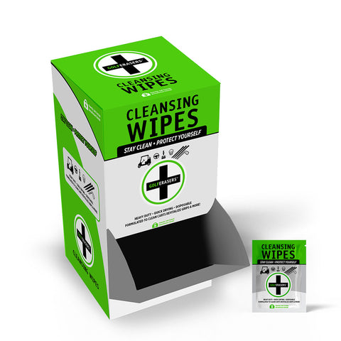 GolfERASERS Wipes<br>(200 Single Units)<br>Gravity Feed Display