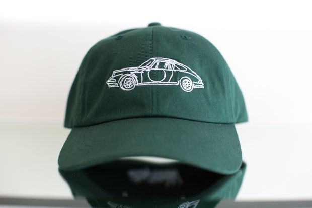 "Werks ""Long Hood"" Dad Hat - Irish Green"