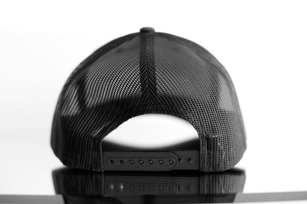 """Long Hood"" Trucker Hat - Black"