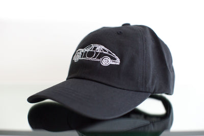 """Long Hood"" Dad Hat - Black"