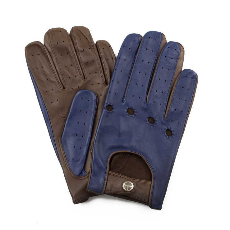 The Outlierman Gloves - The Heritage - Cobalt Blue / Taupe