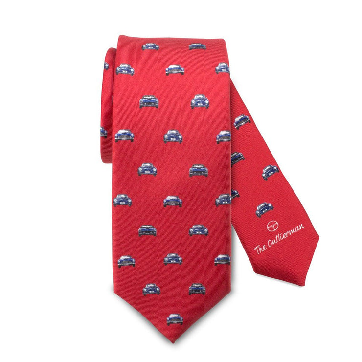 The Outlierman Tie - The Vintage Race - Red / Blue