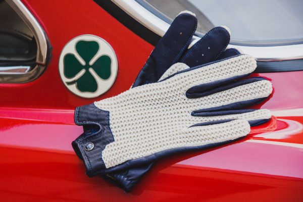 Stringback Driving Gloves - Navy