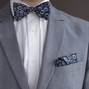 The Outlierman Bow Tie - The Signature Wheel - Blue