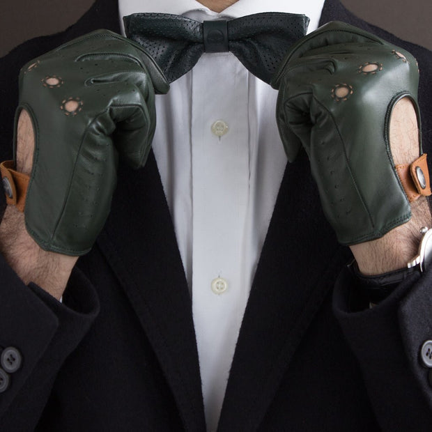 The Authentic Race Glove - Loden / Tan