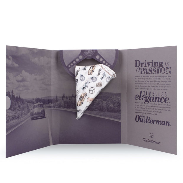 The Outlierman Pocket Square - The Gentleman Driver - Ivory